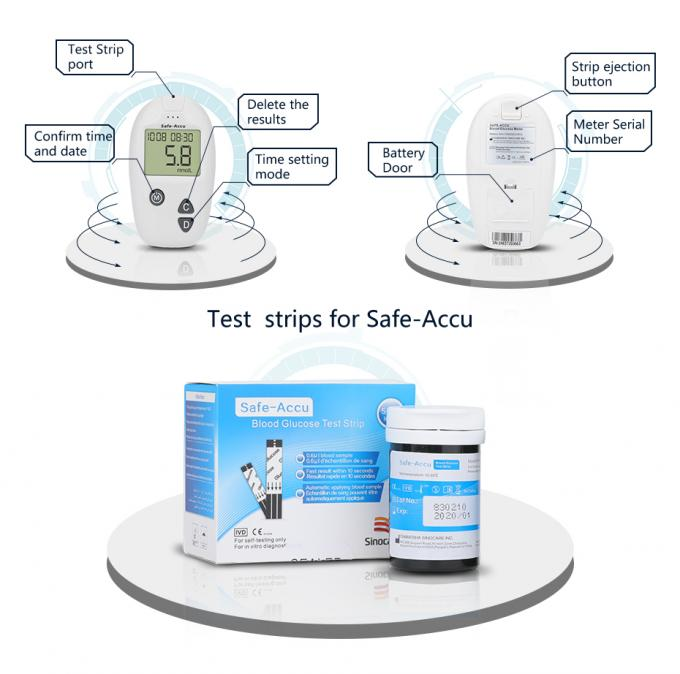 Accurate Result Mobile Glucose Meter No Coding 10s Test Time Long Service Life Diabetes Sugar Glucometer KIT