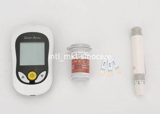 China FDA Blood Glucose Meter Blood Sugar Monitors 10 / 25 Tests Trips / Lancets supplier