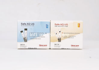 China Safety Lancet Blood Sugar Test Strips Not Influence By Lactose Blood Glucose / Uric Acid supplier