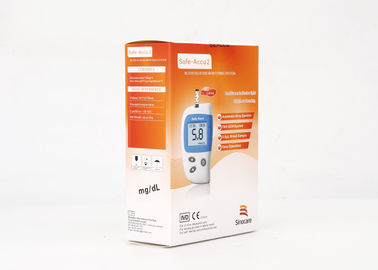 FAD-GDH Enzyme Blood Glucose Meter  Home Glucose Monitoring System CV<6% Anti Interference Strip