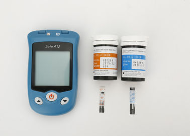 Software Support Blood Sugar Monitoring Kit , Sugar Level Test Kit With Safety Lancet / Uric Acid